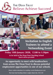 English Trainees Networking Event @ The Dean Trust Teaching School